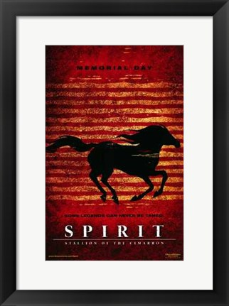 Framed Spirit: Stallion of the Cimarron - red Print