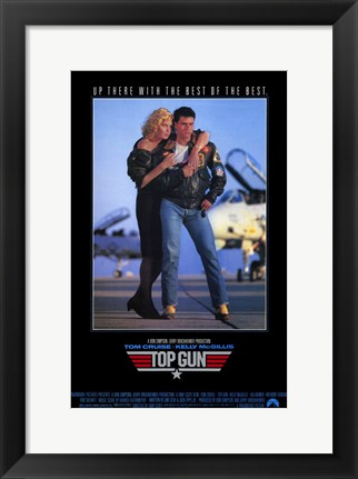 Framed Top Gun Tom Cruise Print