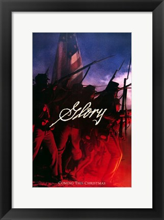 Framed Glory American Battle Print