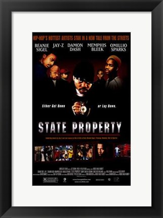 Framed State Property Print