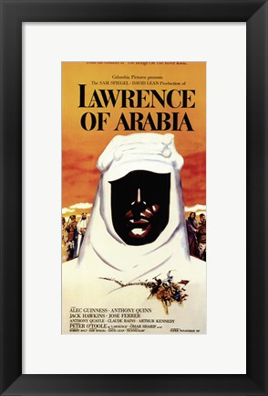 Framed Lawrence of Arabia Print