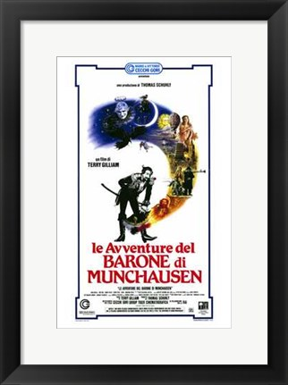 Framed Adventures of Baron Munchausen - tall Print