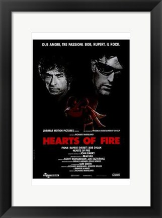 Framed Hearts of Fire Print