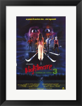 Framed Nightmare on Elm Street 3: Dream Warrior Italian Print