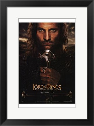 Framed Lord of the Rings: Return of the King - King Aragorn Print