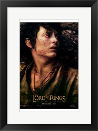 Framed Lord of the Rings: Return of the King Frodo Print