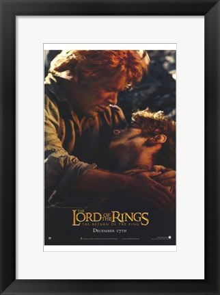 Framed Lord of the Rings: Return of the King Frodo and Sam Print