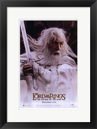 Framed Lord of the Rings: Return of the King Gandalf Print