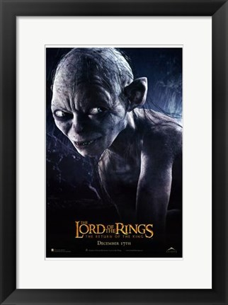 Framed Lord of the Rings: Return of the King Smeagol Print