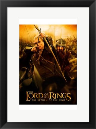 Framed Lord of the Rings: Return of the King Legolas Print