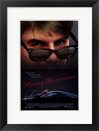 Framed Risky Business Cruise & De Mornay Print