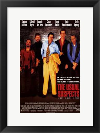 Framed Usual Suspects Print