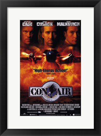 Framed Con Air Cage Cusack Malkovich Print