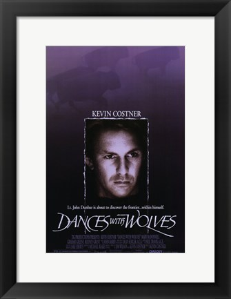 Framed Dances with Wolves Western Print