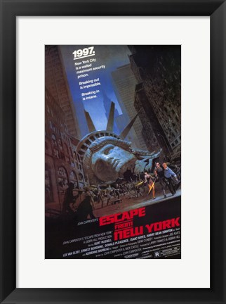 Framed Escape from New York 1997 Statue of Liberty Print
