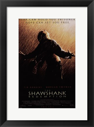 Framed Shawshank Redemption Freedom Print
