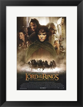 Framed Lord of the Rings: Fellowship of the Ring Vertical Print