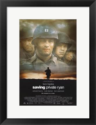 Framed Saving Private Ryan Print