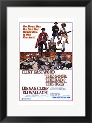 Framed Good  the Bad and the Ugly Print