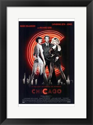 Framed Chicago Richard Gere Catherine Zeta Jones Zenee Zellweger Print