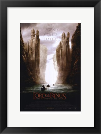 Framed Lord of the Rings: Fellowship of the Ring The Legend Comes to Life Print