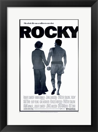 Framed Rocky Silhouette His Whole Life Print