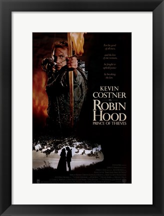 Framed Robin Hood Prince of Thieves Print