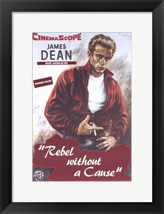 Framed Rebel Without a Cause Smoking Print