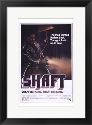 Framed Shaft's His Name.  Shaft's His Game. Print