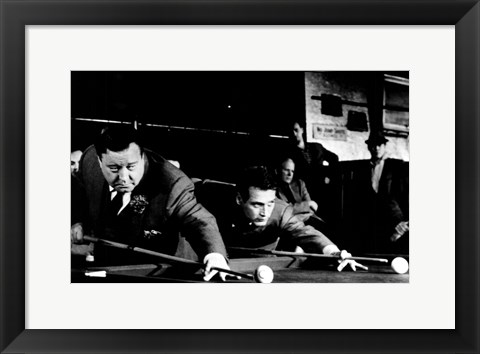 Framed Hustler Shooting Pool Print