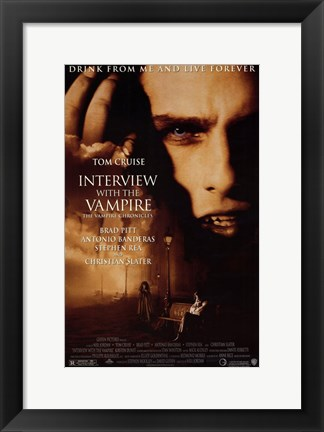 Framed Interview with the Vampire Print