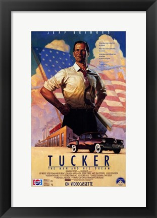 Framed Tucker: the Man and His Dream Jeff Bridges Print