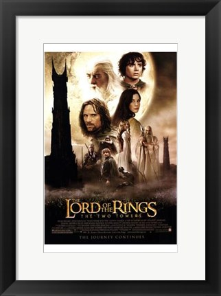 Framed Lord of the Rings: the Two Towers Main Characters Print