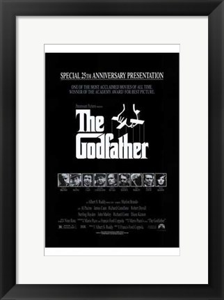 Framed Godfather B&W Print