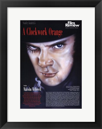 Framed Clockwork Orange Macolm McDowell Print