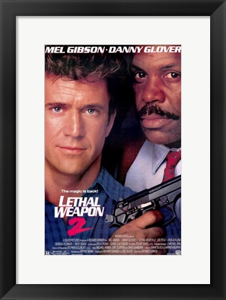 Framed Lethal Weapon 2 Print