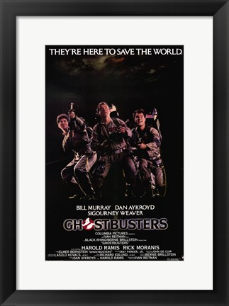 Framed Ghostbusters Cast Print