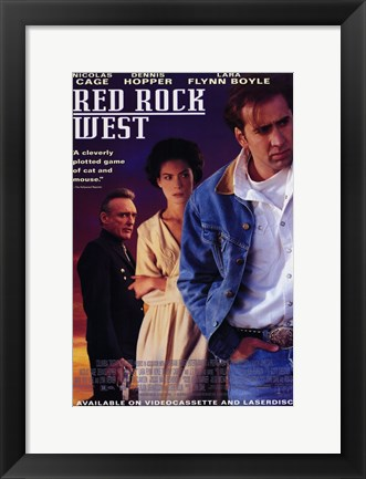 Framed Red Rock West Print