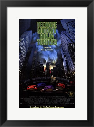 Framed Teenage Mutant Ninja Turtles: the Movie Print