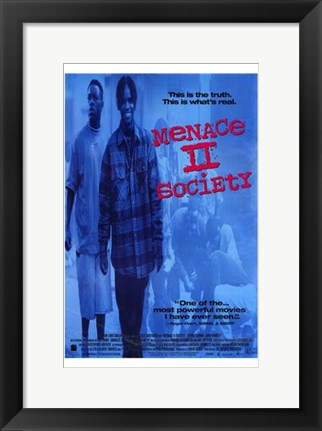 Framed Menace II Society By Allen Hughes Print