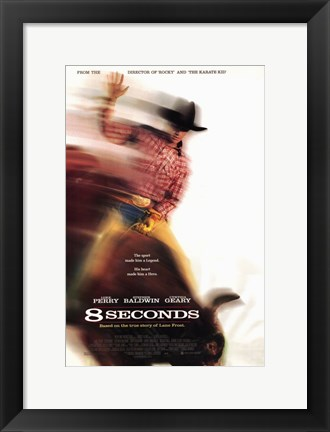 Framed 8 Seconds - poster Print