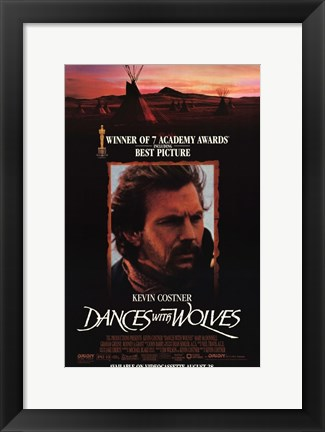 Framed Dances with Wolves 7 Academy Awards Print