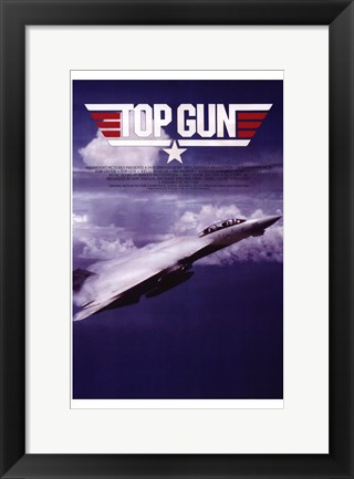 Framed Top Gun Fighter Jet Print