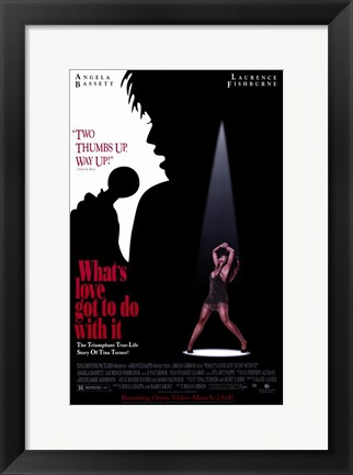 Framed What's Love Got to Do with it - spotlight Print