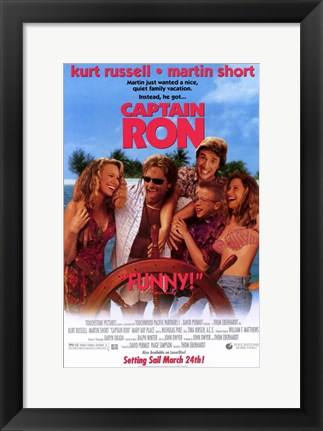 Framed Captain Ron Print