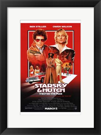 Framed Starsky Hutch - They're the man Print
