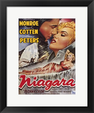 Framed Niagara Marilyn Monroe Lounging Print