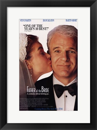 Framed Father of the Bride Steve Martin Print
