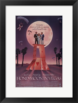 Framed Honeymoon in Vegas Film Print