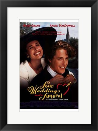 Framed Four Weddings and a Funeral Print